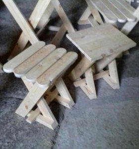 Стол.лавка.