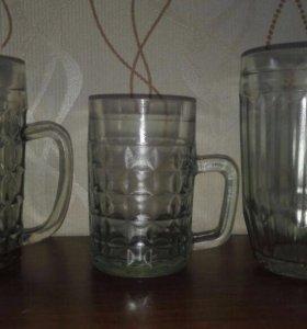 Пивные бокалы разные