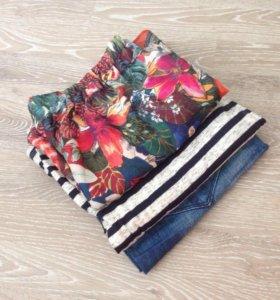 Летний набор шорты юбка туника