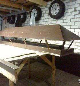 Изготовление и установка зонтов на трубы
