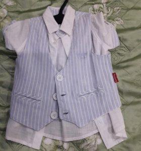 Рубашка+ жилетка на малыша