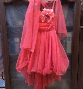 Платье детское праздничное на 6-8 лет