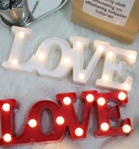 Светильник Любовь LOVE (Белый). Новый