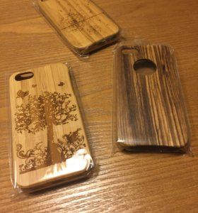 Деревянные чехлы на айфон 4 и 5
