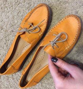 Туфли кожаные / лоферы / топсайдеры