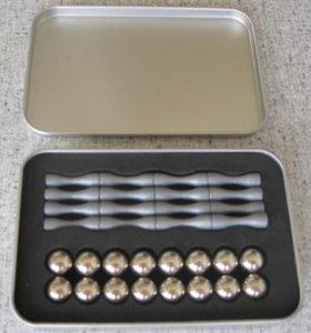 Магнитный конструктор. 16 палочек и 16 шариков