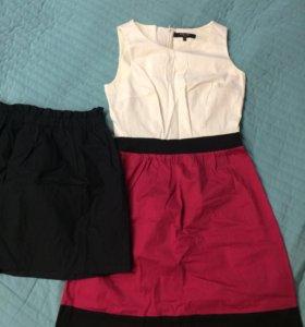 Платье инсити и юбка Н&М