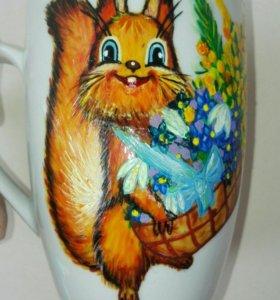 Под заказ чашка ручной росписи