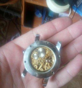 Часы Скелетон Виннер(золотые)