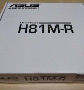 Новая материнская плата Asus H81M-R сокет 1150