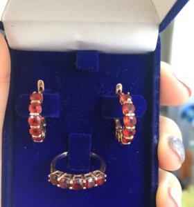 Золотые серьги, кольца , подвесы