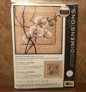 Dimensions Набор для вышивания Восточные орхидеи