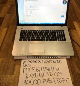 Игровой ноутбук ASUS k750j + чехол