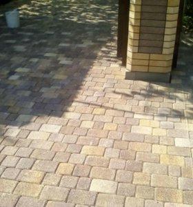 Укладка тротуарной плитки, качественно.