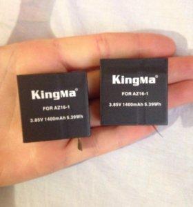 2 Аккумулятора xiaomi 4k + зарядное устройство