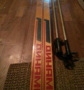 Лыжи деревянные СССР
