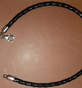 Кожаный витой браслет унисекс