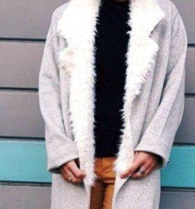 Новое пальто кардиган Zara S