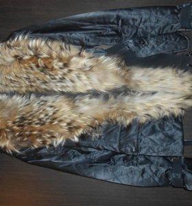 Женская демисезонная куртка. Натуральный мех.