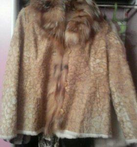 Куртка натур.с лисой и на подкладке кролика