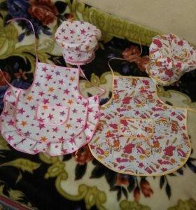 фартук+колпак для детского сада 3-6 лет (пара м+ж)