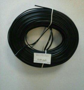 Телефонный кабель 2-жильный черный