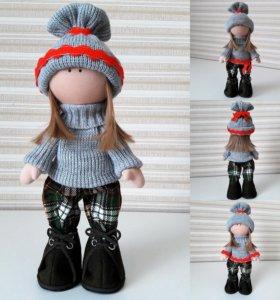 Интерьерная кукла Тильда в кофте. Handmade. Пермь
