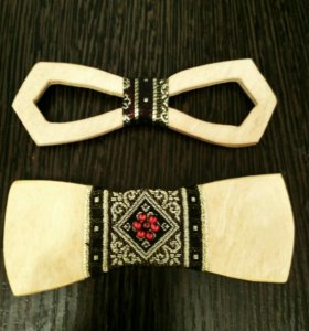 Бабочка-галстук (деревянная)