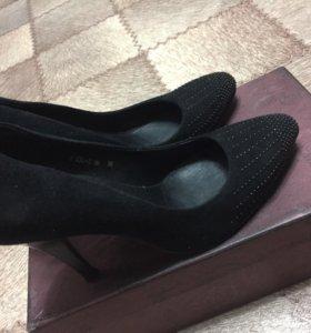 Туфли замш натуральный