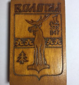 Деревянный герб Вологда
