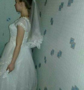 Свадебное платье и фата )