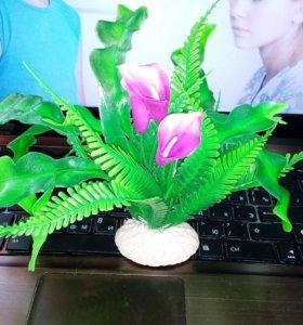 Искусственные растения. В аквариум