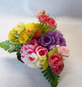 Корзиночка тюльпанов маленькая