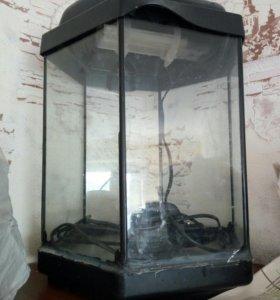 аквариум с крышкой, свет