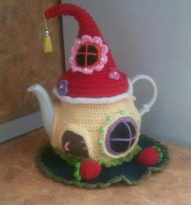Сказочный домик на чайник