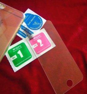 Защитное стекло для Apple 5/ 5S/ 5C/ 5SE