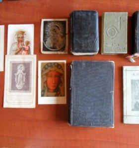 5 антикварных религиозных книг на польском языке.