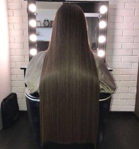 Ботокс волос. Кератиновое выпрямление.Нанопластика