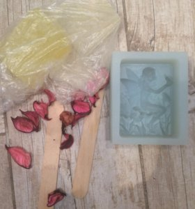 Силиконовая форма для мыла и органическое мыло