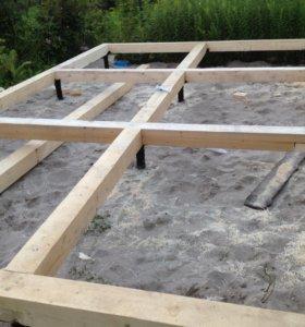 Фундамент для дома 6х6 метров на сваях шурупах