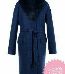 Пальто зимнее с натуральным мехом (песец)