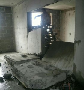 Демонтаж бетона, кирпича, снос стен, перекрытий