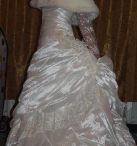 Свадебное платье, болеро и шубка