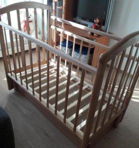 Детская кроватка Антел Алита - 6 с матрасом