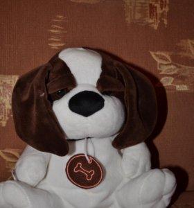 Собака мягкая игрушка с молнией /новая с биркой