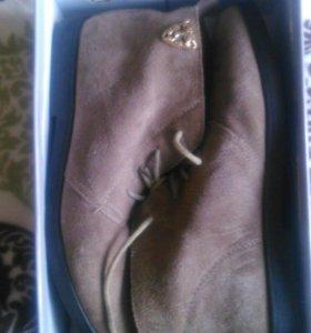Ботинки, замша