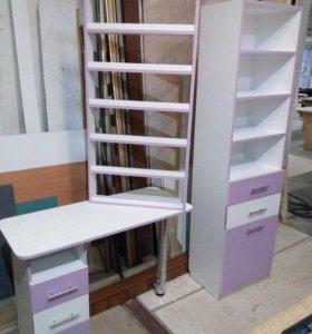 Мебельный комплект стол стеллаж полка