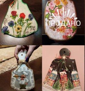 Доски разделочные декорированные ручной работы