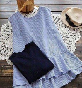 Блузка+свитер