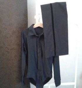 Рубашка и брюки с лампасами для бальных танцев